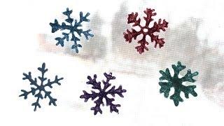 Diy Glitter Snowflake Decals!