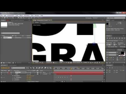 After Effects Tutorial: Kinetic Typography (Swinging, Drop Down, Y Rotation) -HD-
