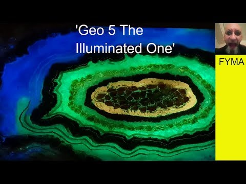 How To Make A Resin Geode 'Geo 5 The Illuminated one'