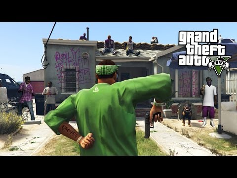 JOINING A GANG & GANG WARS!! (GTA 5 Mods)