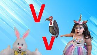 Letter V 2021 | Alphabet Song for Kids (New) | Arissa & Bunny