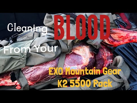 How to Clean BLOOD out of a Backpack | EXO Mountain Gear K2 5500 Pack