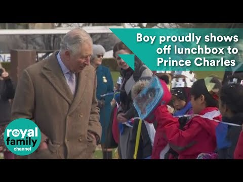 Download Youtube: Boy proudly shows off lunchbox to Prince Charles at Tattershall Castle