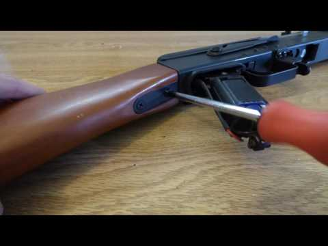 CYMA CM042 Airsoft AK 47 Furniture and Cleaning Rod Removal