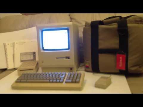 Original 1984 Apple Macintosh 128k Computer - 2014 Startup