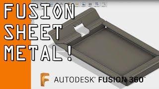Fusion 360 Sheet Metal Tutorial!  FF94