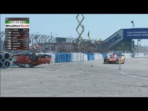 IMSA WeatherTech SportsCar Championship 2018. 12 Hours of Sebring. Big Crash Flip