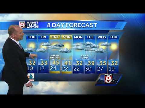 Sunshine returns on Thursday along with seasonable temperatures