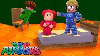 CAT BOY, CORUJITA AND LAGARTIXO NEED TO SURVIVE THE CHALLENGE THE FLOOR IS LAVA IN ROBLOX-PJ MASKS