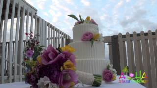 3 Tiered Hawaii Wedding Cake With The Exotic Flavor Touch