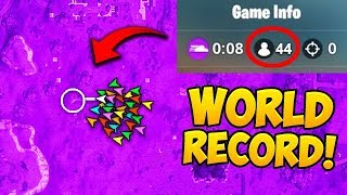 *WORLD RECORD* 44 PLAYERS IN FINAL CIRCLE! - Fortnite Funny Fails and WTF Moments! #435