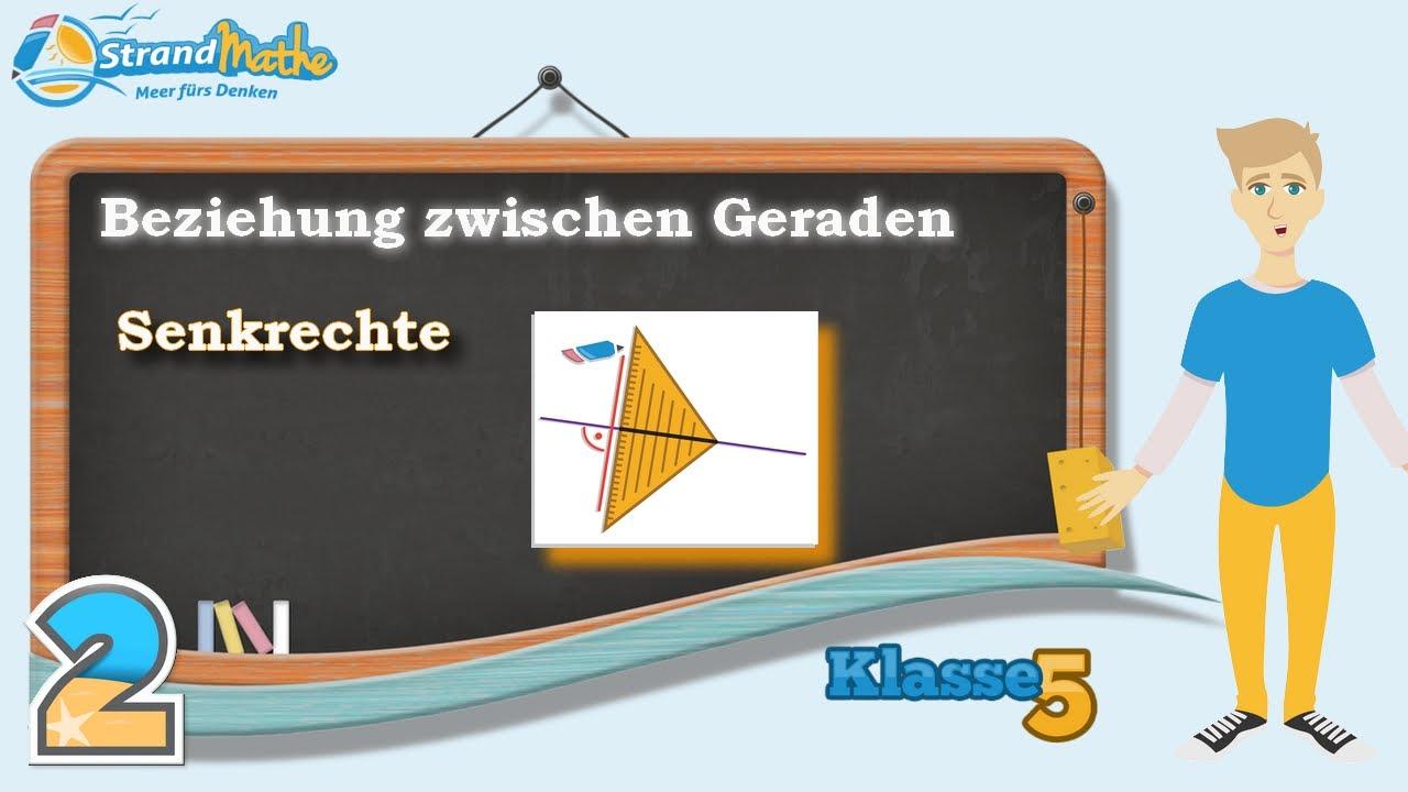 Geraden verstehen - senkrecht parallel || Klasse 5 ☆ Übung 2 - YouTube