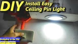 Pano mag  install ng easy ceiling pin light
