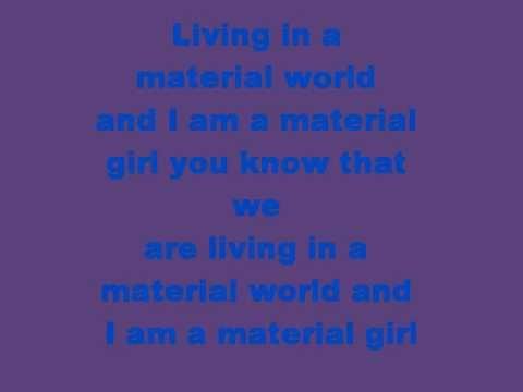 Madonna-Material Girl lyrics