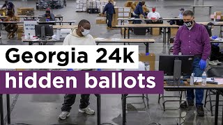 Watch Again! Georgia election workers secretly count 24K hidden ballots after ejecting Republicans.