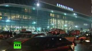 Video of Domodedovo airport after savage suicide blast(Follow latest updates at http://www.facebook.com/RTnews and http://twitter.com/rt_com At least 35 people killed by a terrorist explosion at Moscow's ..., 2011-01-24T18:27:01.000Z)