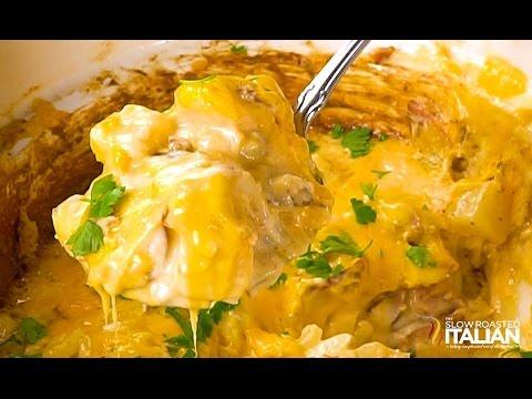 Slow Cooker Cheesy Sausage And Potato Casserole