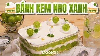 [Cookat Việt Nam] Bánh Kem Nho Xanh