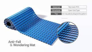 HIWALK Anti-fall Non Slip Multipurpose Bathroom Mat Made in Korea