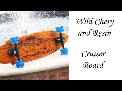 Wild Cherry and Resin Skateboard Build