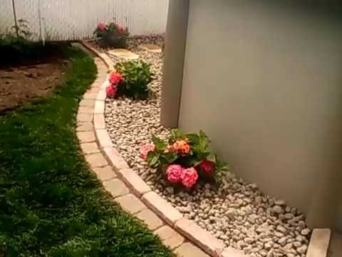 Amenagement contour de piscine hors terre am nagement paysager jarda youtube for Amenagement piscine