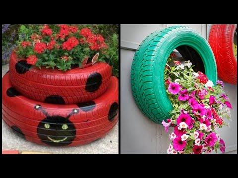 beautiful-old-tyre-recycle-craft-ideas-for-home-decor