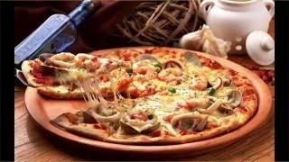 Очень вкусная пицца на тонком тесте