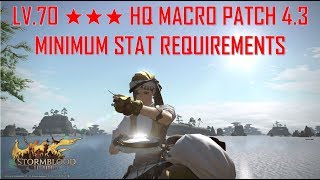 Final Fantasy XIV - Level 70 ★★★ HQ Macro Minimum Requirements Patch 4.3