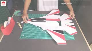 Merakit Bodi Pesawat RC Jet Sederhana Sendiri