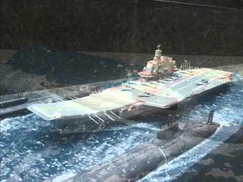 aircraft carrier kutznetsov amp submarine kursk diorama by