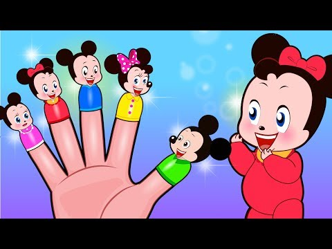 Mickey Mouse & Minnie Mouse Finger Family Nursery Rhymes | Popular Kids Songs by Sakura Kids Song