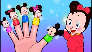 Mickey Mouse & Minnie Mouse Finger Family Nursery Rhymes   Popular Kids Songs by Sakura Kids Song