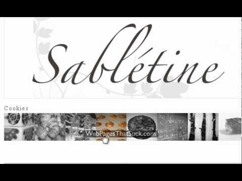 Sabletine - 7th Worst Website Navigation in 2011