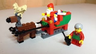Lego Santa's Sleigh Polybag Christmas Scene 40059 Unbag Build & Review