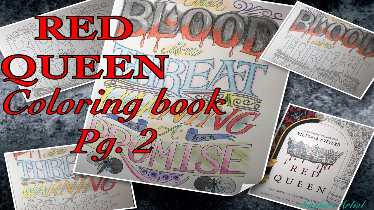 Speed Draw~ Red Queen coloring book Pg. 2 - YouTube