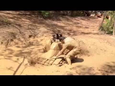 Honda 4 Wheeler >> Four wheeler mudding - YouTube