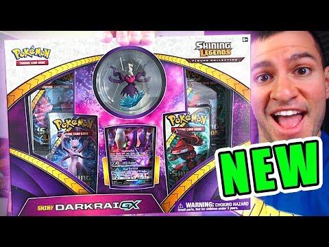 DOUBLE SHINY PULL! - OPENING NEW POKEMON CARDS SHINY DARKRAI GX BOX OF 2018!