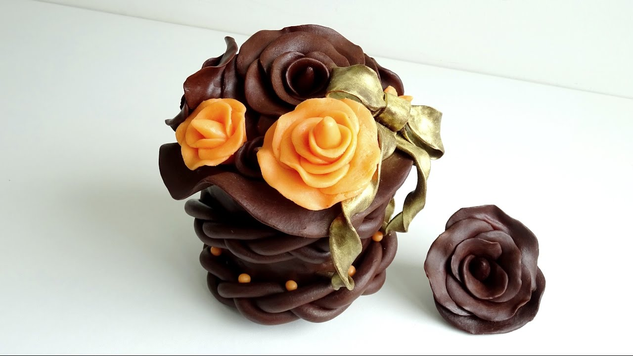 Rose En Chocolat Plastique Tuto English Subtitles Available