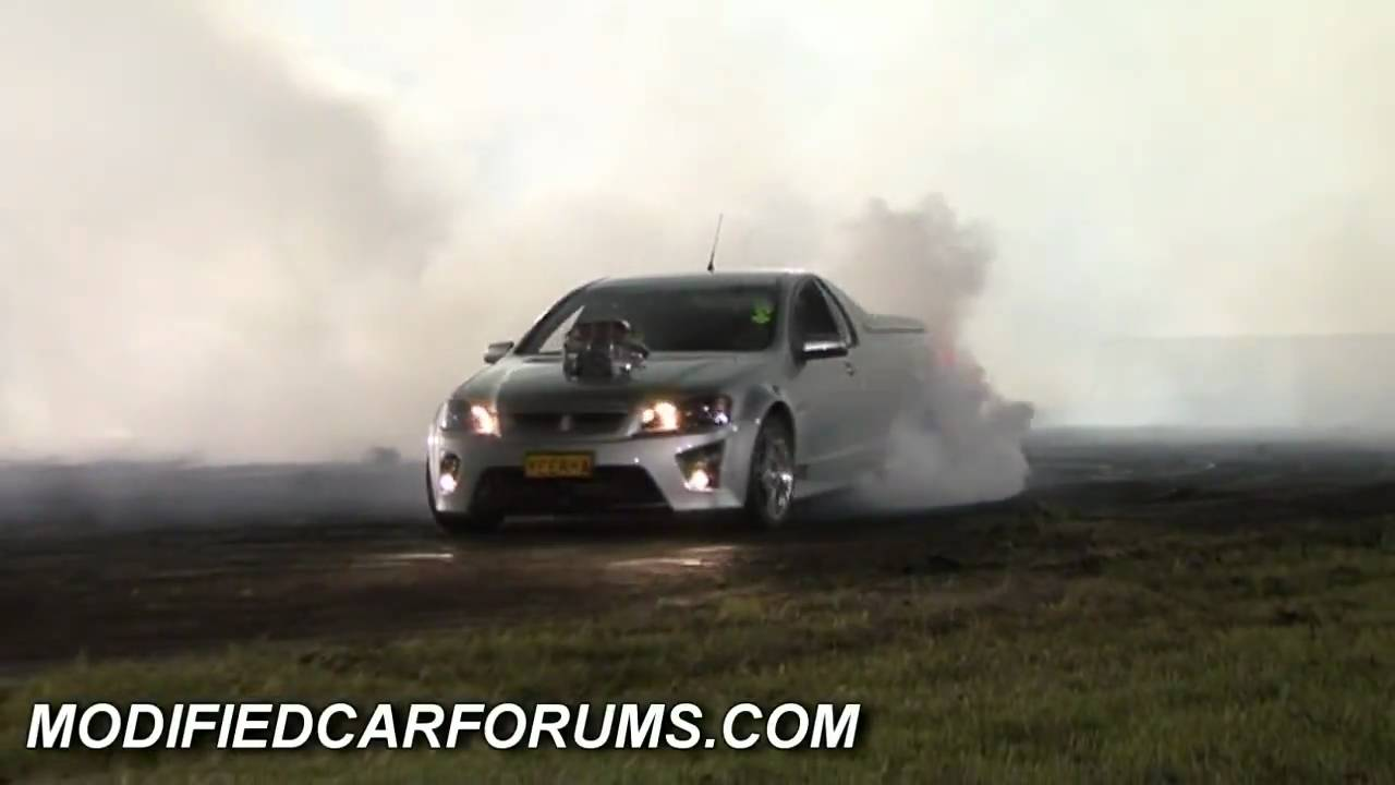 ve supercharged maloo quotyeerhaquot burnout at sydney