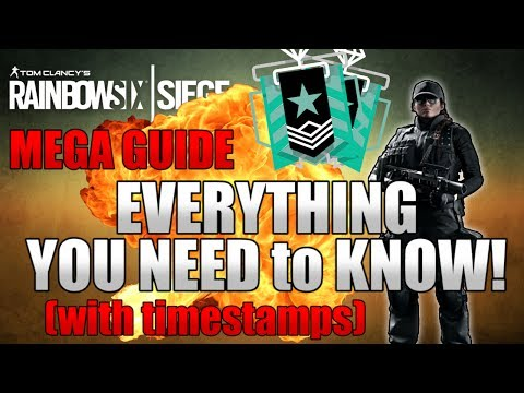 THE ULTIMATE BEGINNERS GUIDE TO RAINBOW SIX SIEGE - Tips & Tricks Mega List For Beginners