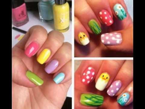 Cute nail art designs ideas for kids - YouTube
