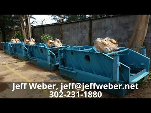 Selling (10) new 4 panel shale shakers. 15K usd each