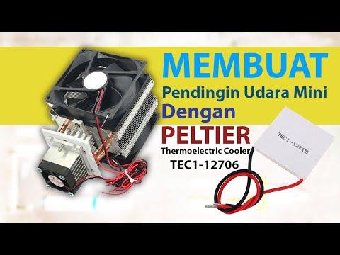Merakit dan Membuat Pendingin Udara Mini dengan Peltier Thermoelectric Cooler How To make Air Cooler