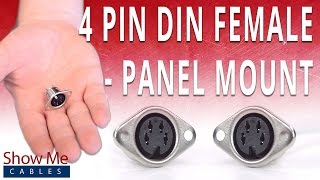 How To Install The 4 Pin DIN Female Panel Mount Solder Connector