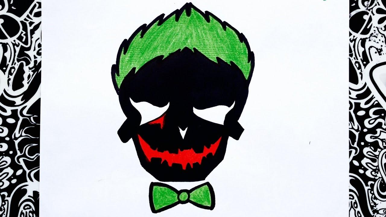 Como Dibujar Al Guason Logo Del Joker Escuadron Suicida How To Draw Joker Jared Leto