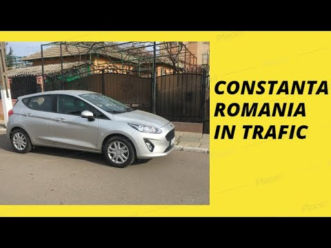 Constanta Romania City Tour Cars Traffic Driving Guide Video 2018