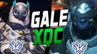 GALE INSANE ANA AND XQC PRO WINSTON! BEST DUO? [ OVERWATCH SEASON 9 TOP 500 ]