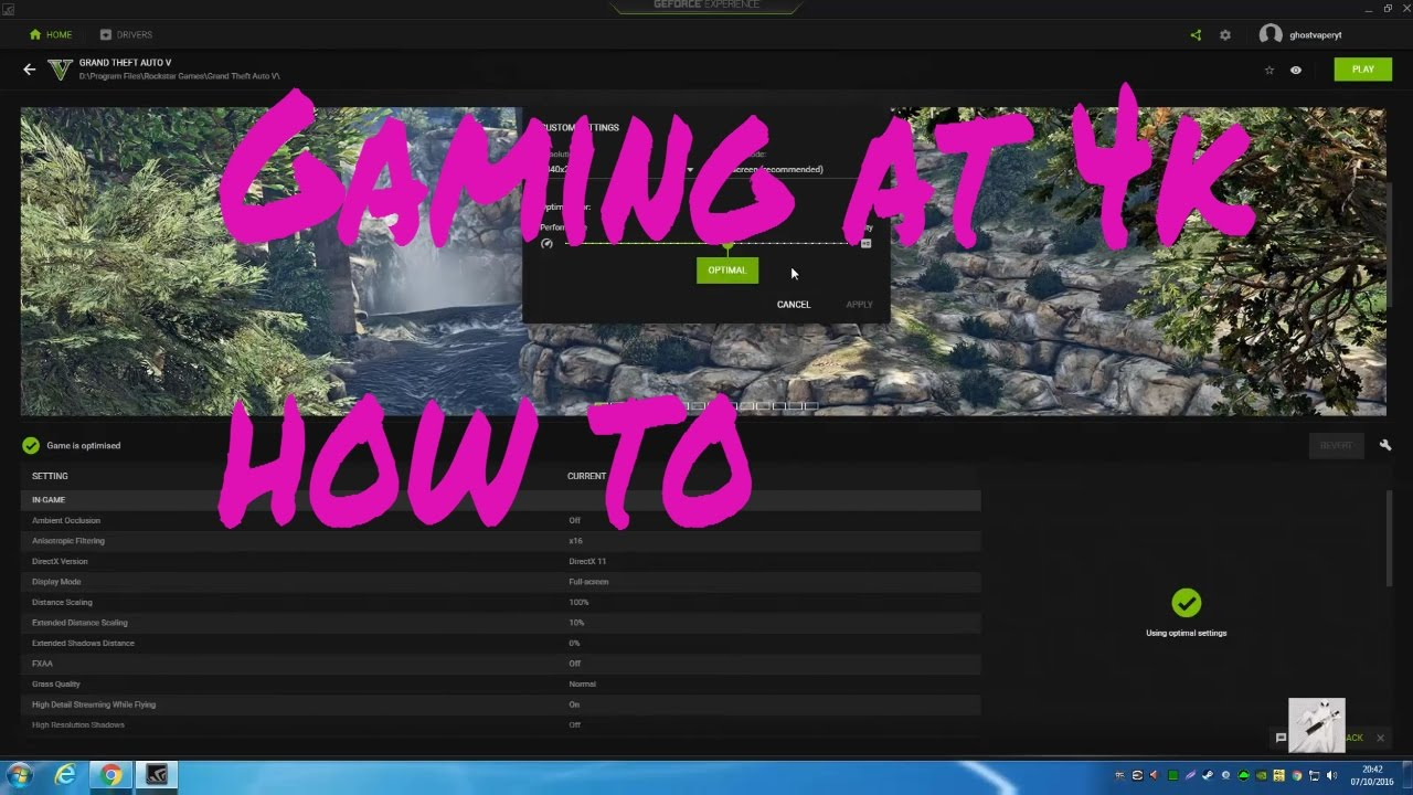 How to game at 4k on a 1080p monitor using Nvidia DSR
