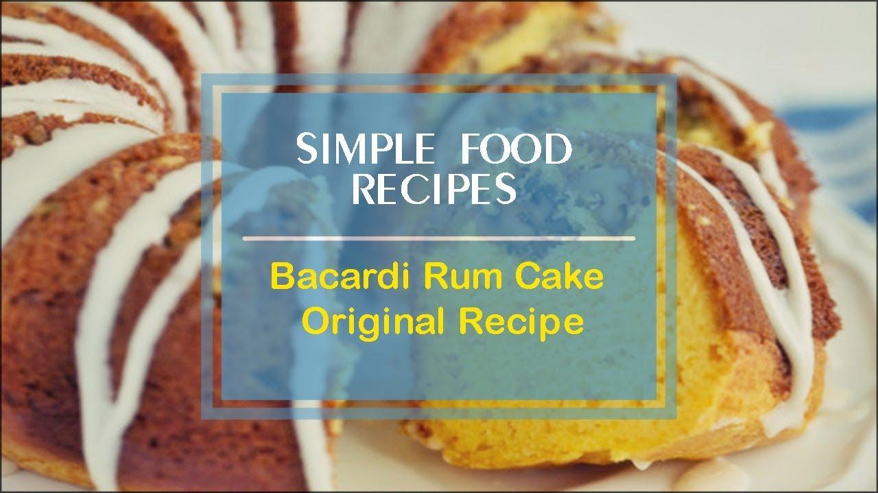 Caribbean Rum Cake Recipe King Arthur Flour: Original Bacardi Rum Cake Recipe