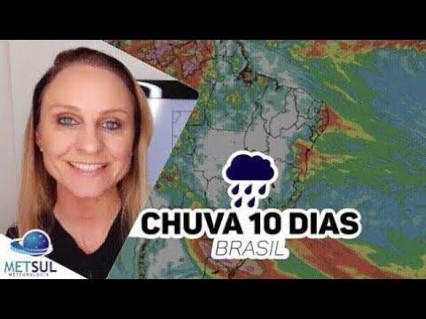 21/06/2021 - Previsão do tempo Brasil - Chuva 10 dias   METSUL